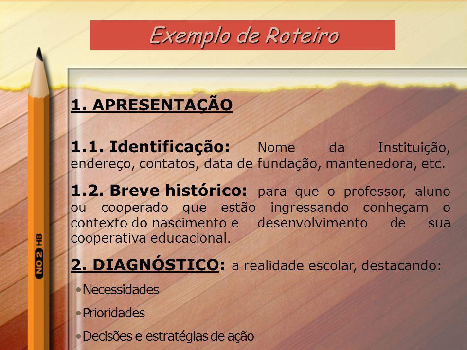 8. MARCO DOUTRINAL 8.1 RESULTADOS DO RENDIMENTO ESCOLAR 2011 9. MARCO SITUACIONAL 10. MARCO OPERACIONAL 10.1 PLANOS DE AÇÃO DO DIRETOR, DO COORDENADOR