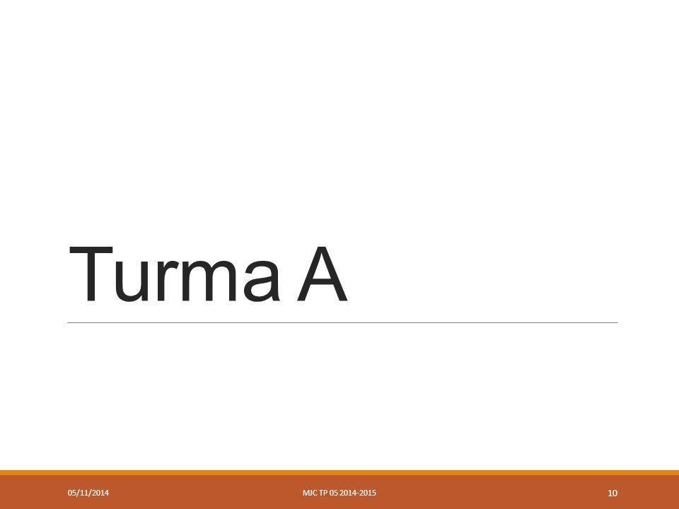 Turma A 05/11/2014MJC TP 05 2014-2015 10
