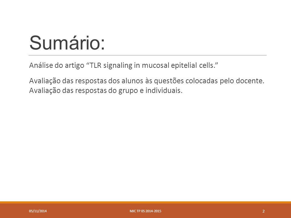 Turma B 05/11/2014MJC TP 05 2014-2015 3
