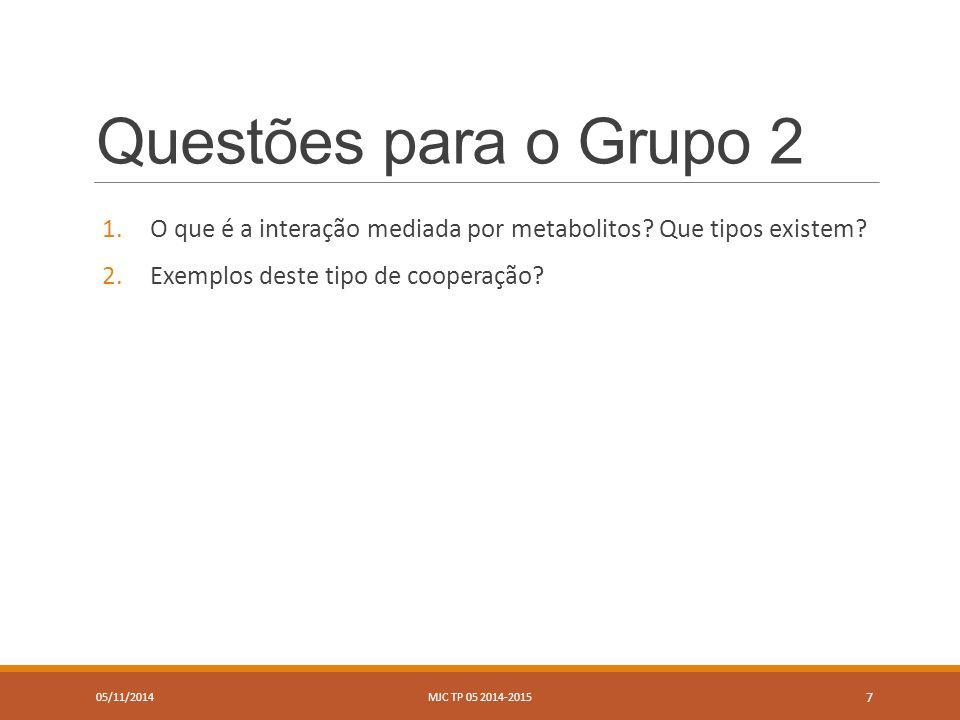 Questões para o Grupo 3 1.O que é o antagonismo mediado por metabolitos.