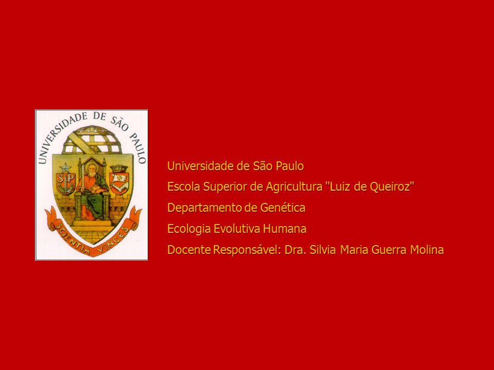 Universidade de São Paulo Escola Superior de Agricultura Luiz de Queiroz Departamento de Genética Ecologia Evolutiva Humana Docente Responsável: Dra.