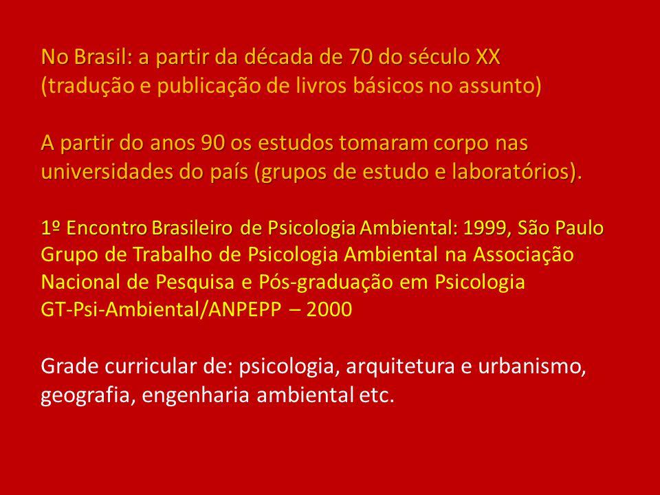 No Brasil: a partir da década de 70 do século XX A partir do anos 90 os estudos tomaram corpo nas universidades do país (grupos de estudo e laboratóri
