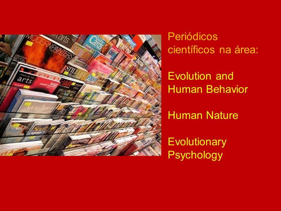 Periódicos científicos na área: Evolution and Human Behavior Human Nature Evolutionary Psychology
