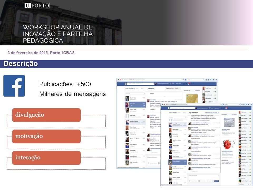3 de fevereiro de 2015, Porto, ICBAS temasparticularidadesexemplos +125 000 visualizações Nº máximo dia: 513 Descrição