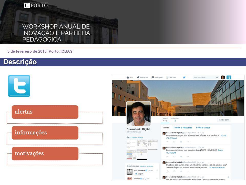 3 de fevereiro de 2015, Porto, ICBAS alertasinformaçõesmotivações Descrição
