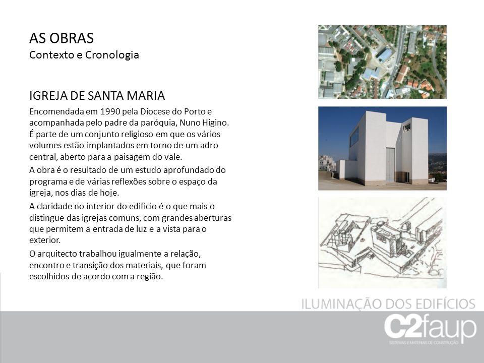 AS OBRAS Contexto e Cronologia EDIFÍCIO DA BOAVISTA Construído entre 1991-1998, faz parte de um complexo de quatro edifícios, localizado junto à urbanização de Aviz, na Avenida da Boavista, Porto.