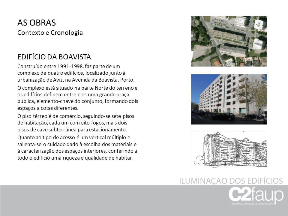 AS OBRAS Contexto e Cronologia EDIFÍCIO DA BOAVISTA Construído entre 1991-1998, faz parte de um complexo de quatro edifícios, localizado junto à urban