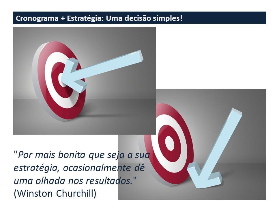 Cronograma + Estratégia: Uma decisão simples.