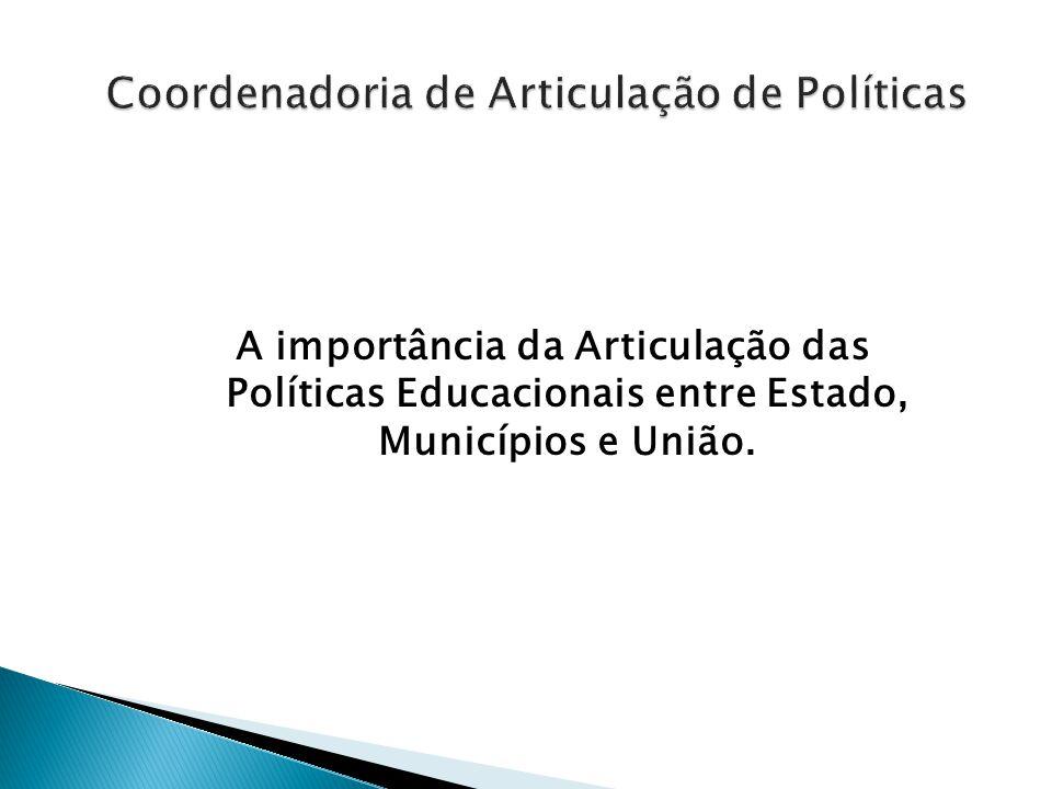 A importância da Articulação das Políticas Educacionais entre Estado, Municípios e União.