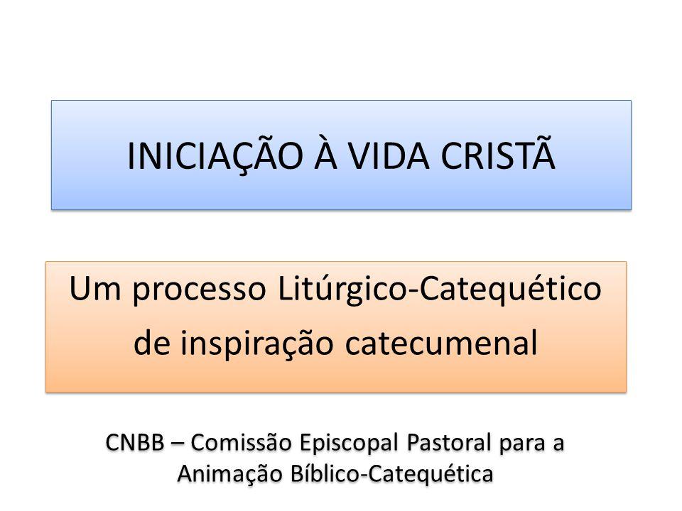INICIAÇÃO À VIDA CRISTÃ Um processo Litúrgico-Catequético de inspiração catecumenal CNBB – Comissão Episcopal Pastoral para a Animação Bíblico-Catequética Um processo Litúrgico-Catequético de inspiração catecumenal CNBB – Comissão Episcopal Pastoral para a Animação Bíblico-Catequética