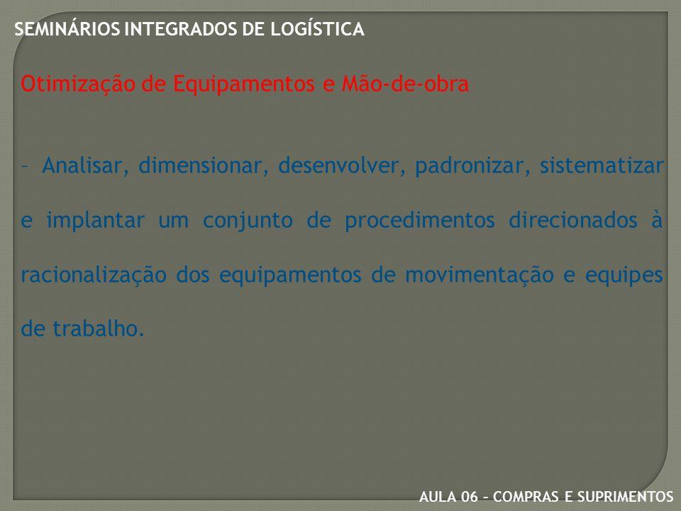 AULA 06 – COMPRAS E SUPRIMENTOS SEMINÁRIOS INTEGRADOS DE LOGÍSTICA Estoques por Propósito  Sazonal – visam acolher produtos com vendas sazonais.
