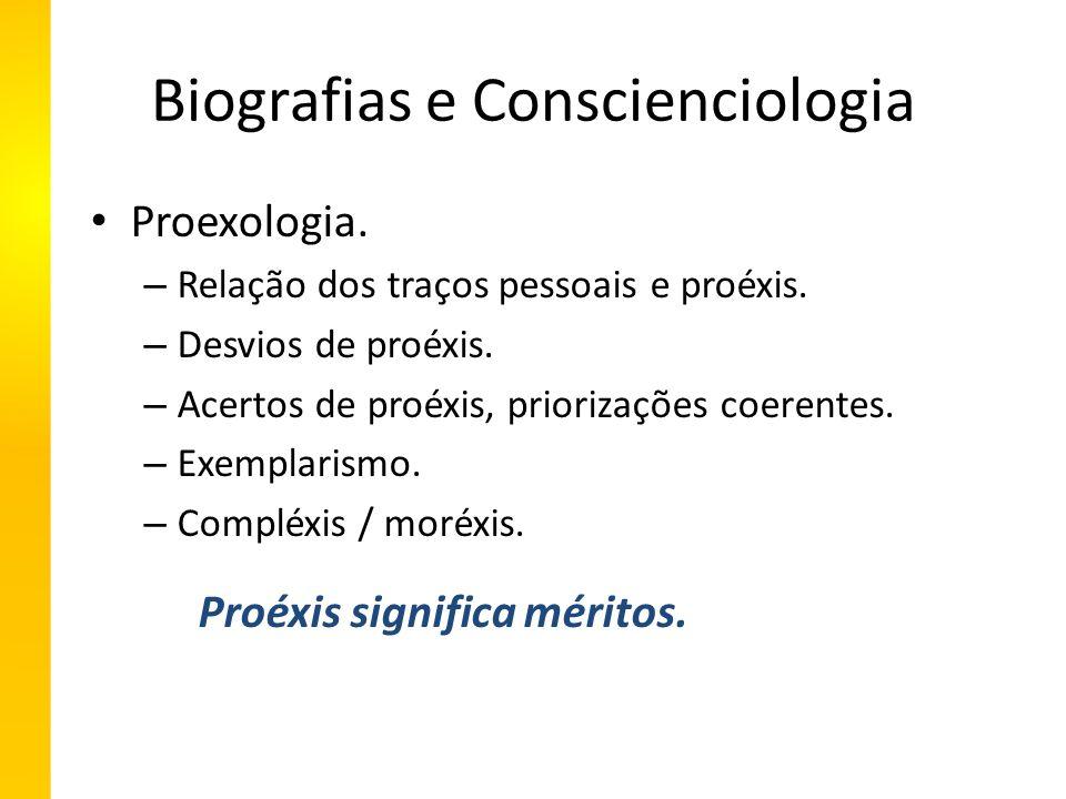 Biografias e Conscienciologia Proexologia. – Relação dos traços pessoais e proéxis.
