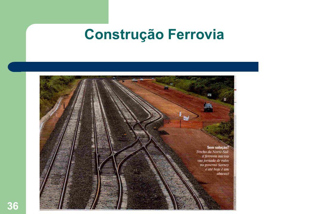 36 Construção Ferrovia