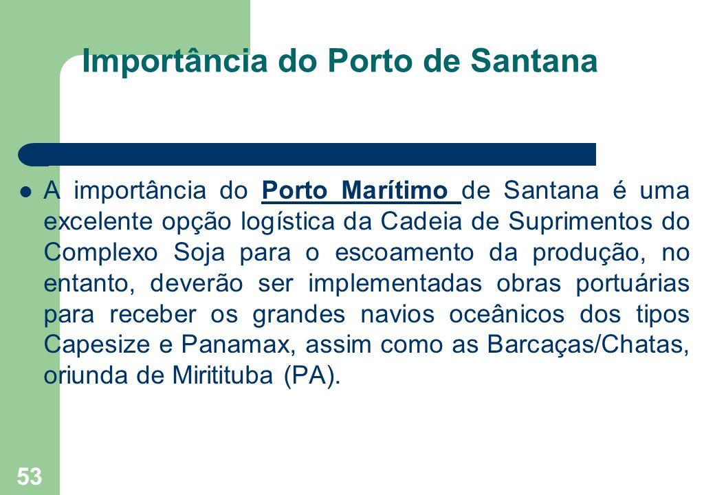 Importância do Porto de Santana A importância do Porto Marítimo de Santana é uma excelente opção logística da Cadeia de Suprimentos do Complexo Soja p