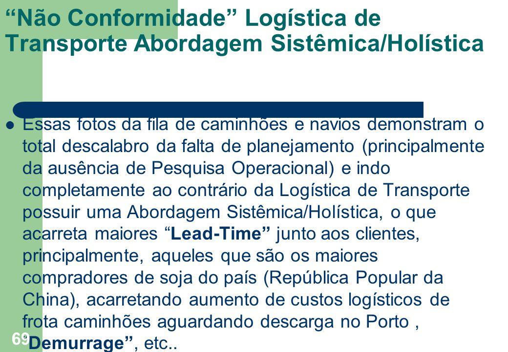 """""""Não Conformidade"""" Logística de Transporte Abordagem Sistêmica/Holística Essas fotos da fila de caminhões e navios demonstram o total descalabro da fa"""