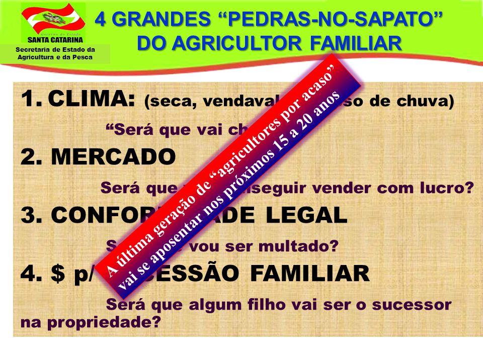 """Secretaria de Estado da Agricultura e da Pesca 4 GRANDES """"PEDRAS-NO-SAPATO"""" DO AGRICULTOR FAMILIAR 1.CLIMA: (seca, vendaval, excesso de chuva) """"Será q"""