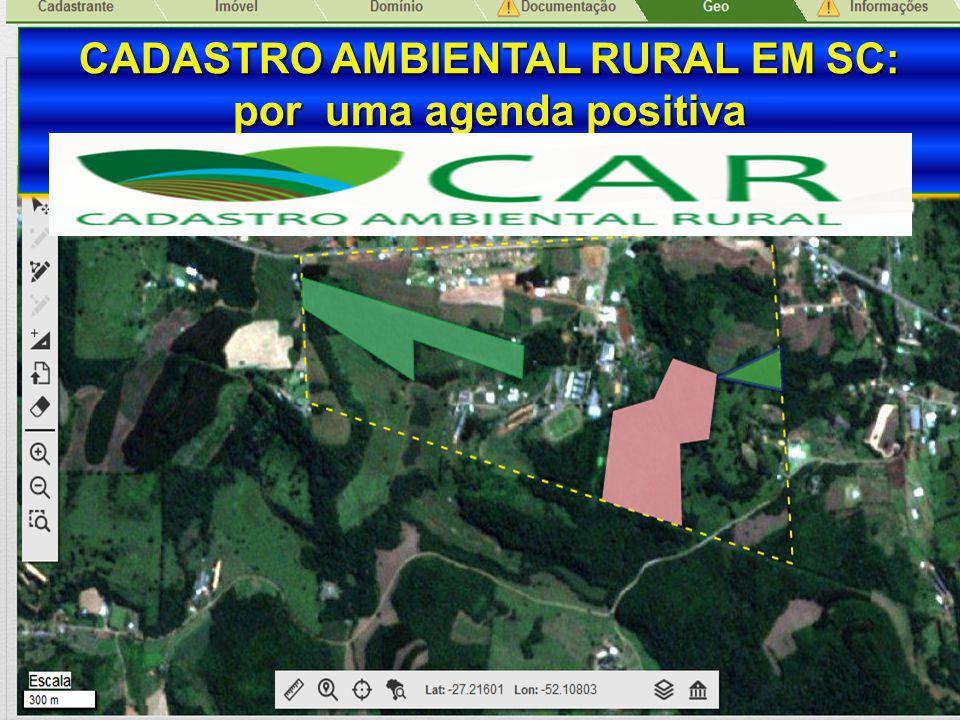 Secretaria de Estado da Agricultura e da Pesca CADASTRO AMBIENTAL RURAL EM SC: por uma agenda positiva CADASTRO AMBIENTAL RURAL EM SC: por uma agenda
