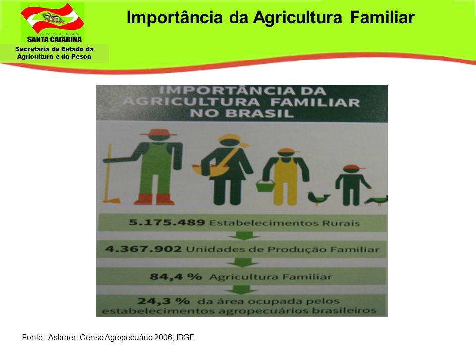 Secretaria de Estado da Agricultura e da Pesca Importância da Agricultura Familiar Fonte : Asbraer.