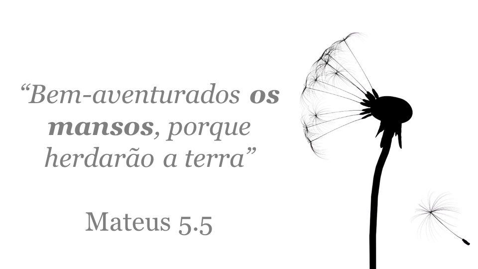 """""""Bem-aventurados os mansos, porque herdarão a terra"""" Mateus 5.5"""
