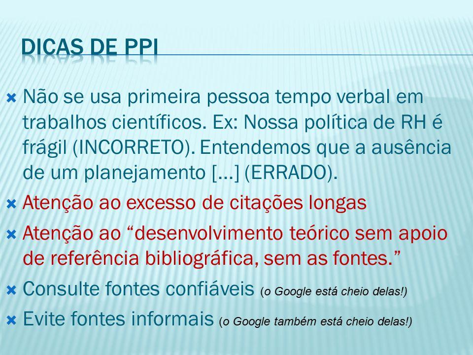  De PPI'S:  SOUTO, Christiane de M.R; CARLINI, Reginaldo José; OLIVEIRA, Sandro S.