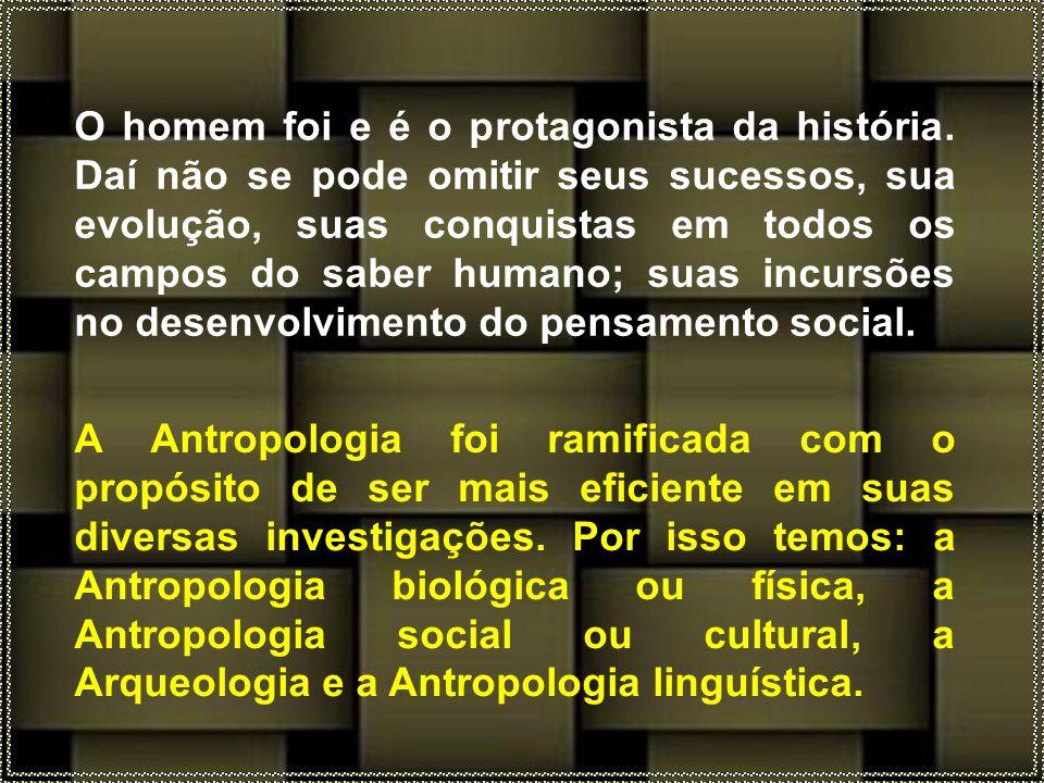 A Antropologia foi ramificada com o propósito de ser mais eficiente em suas diversas investigações.