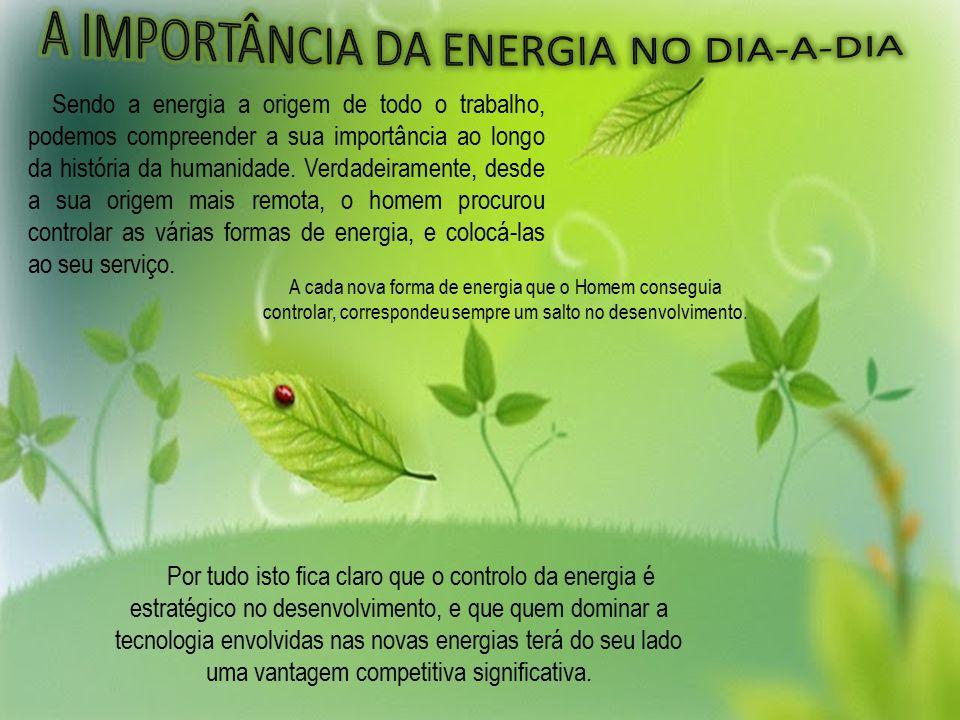 Sendo a energia a origem de todo o trabalho, podemos compreender a sua importância ao longo da história da humanidade.