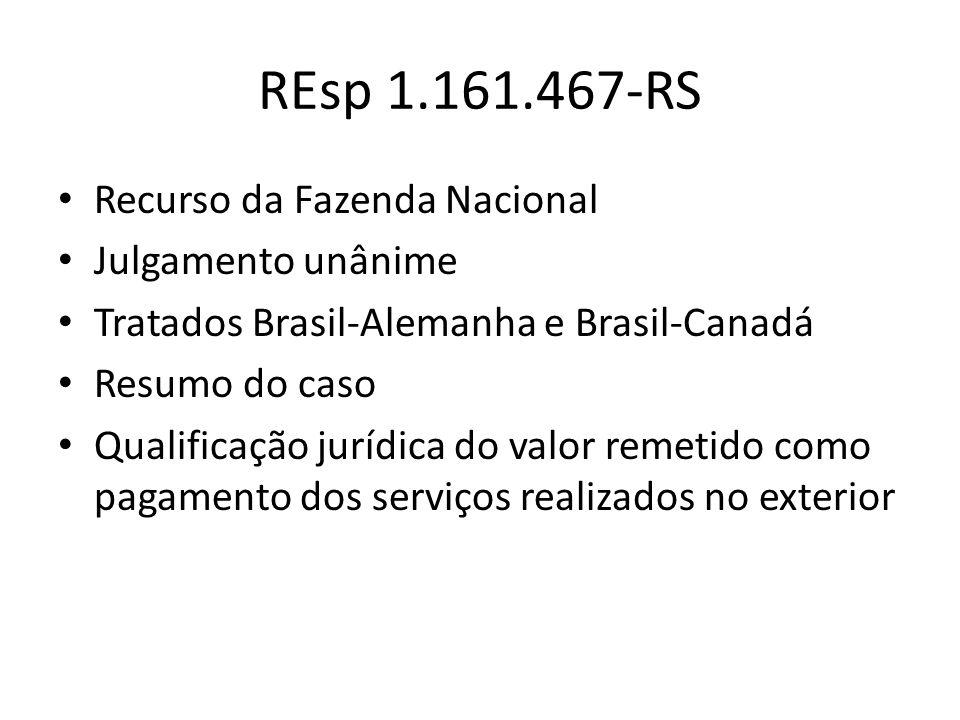 REsp 1.161.467-RS (cont.) Conceito de lucro Prevalência da lei interna (L.