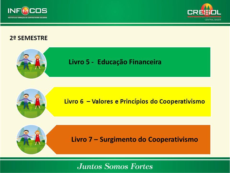 João do Itaperiú/SC Coronel Vivida/PR Pinhão/PRVerê/PR 2º SEMESTRE Livro 5 - Educação Financeira Livro 6 – Valores e Princípios do Cooperativismo Livr