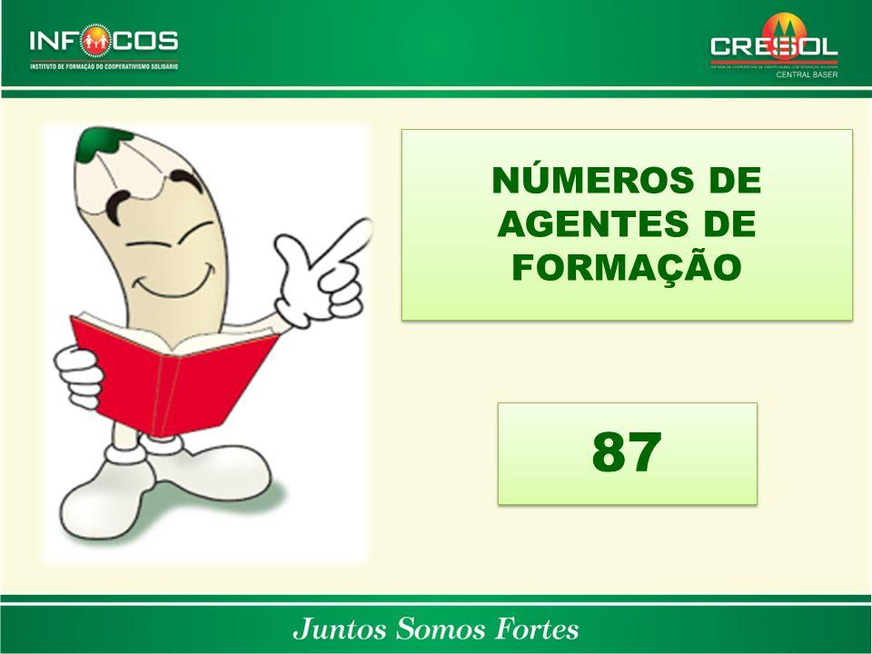 NÚMEROS DE AGENTES DE FORMAÇÃO 87