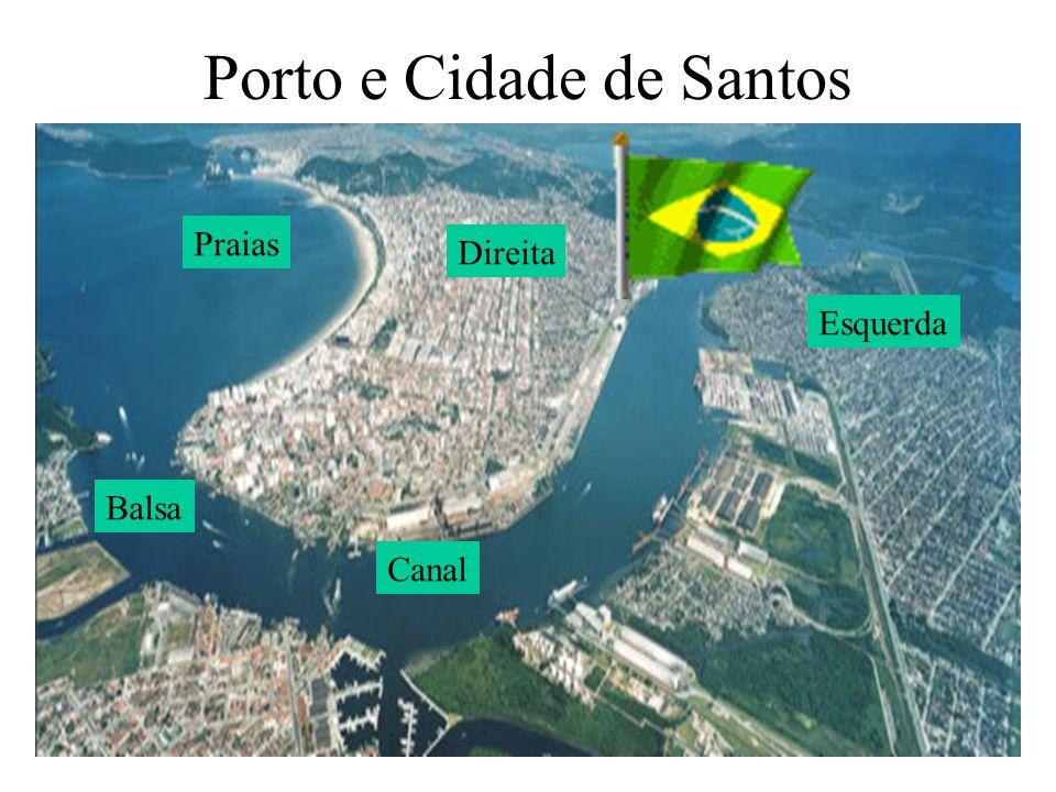 Porto e Cidade de Santos Direita Esquerda Canal Praias Balsa