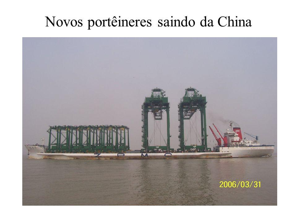Novos portêineres saindo da China