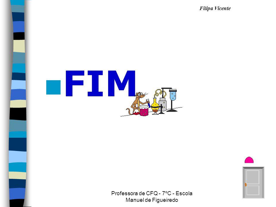 Filipa Vicente Professora de CFQ - 7ºC - Escola Manuel de Figueiredo n FIM