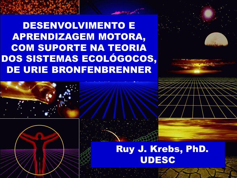 DESENVOLVIMENTO E APRENDIZAGEM MOTORA, COM SUPORTE NA TEORIA DOS SISTEMAS ECOLÓGOCOS, DE URIE BRONFENBRENNER Ruy J.