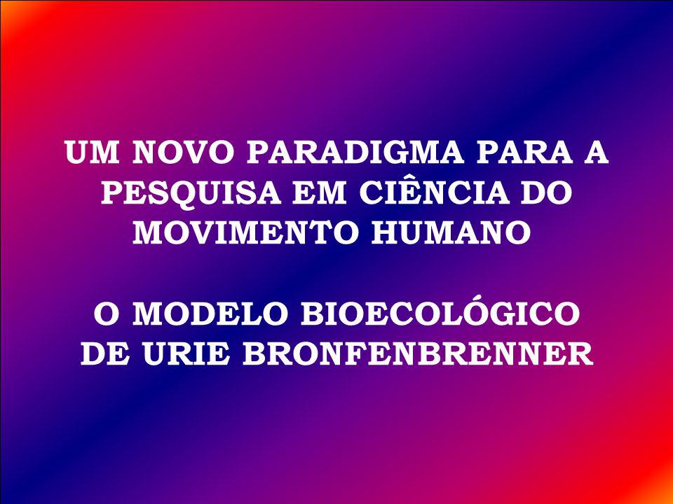 UM NOVO PARADIGMA PARA A PESQUISA EM CIÊNCIA DO MOVIMENTO HUMANO O MODELO BIOECOLÓGICO DE URIE BRONFENBRENNER