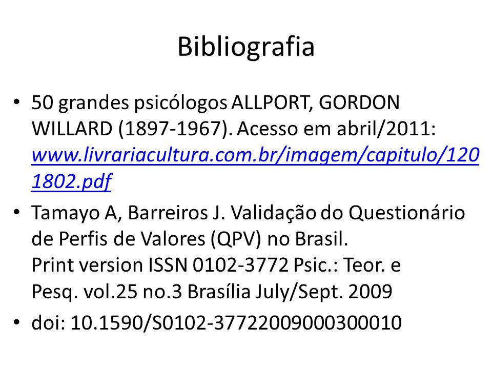 Bibliografia 50 grandes psicólogos ALLPORT, GORDON WILLARD (1897-1967).