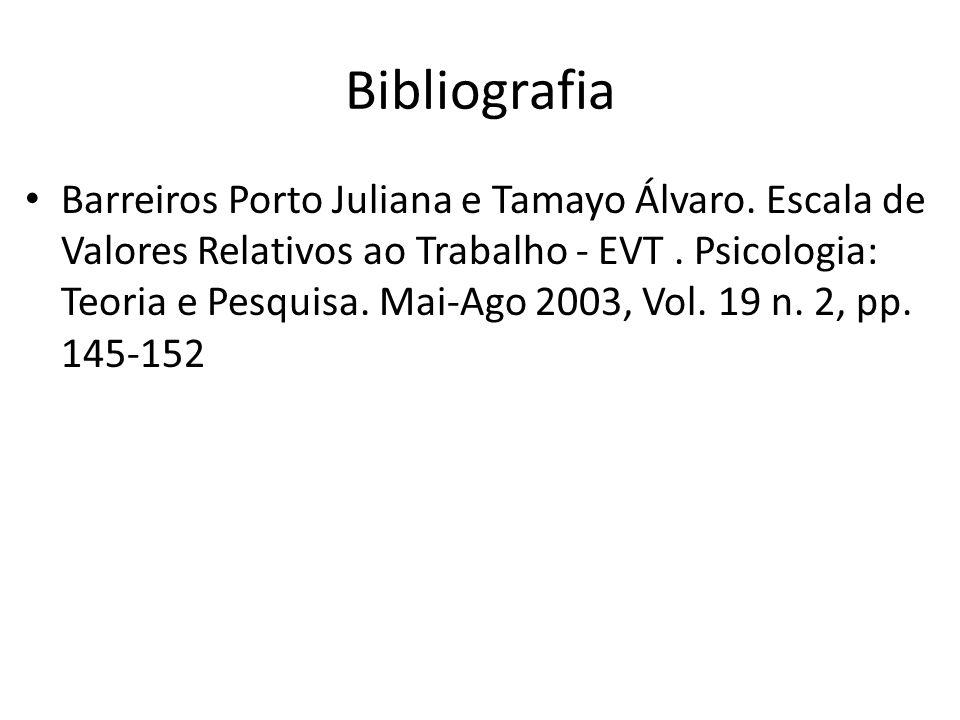 Bibliografia Barreiros Porto Juliana e Tamayo Álvaro.