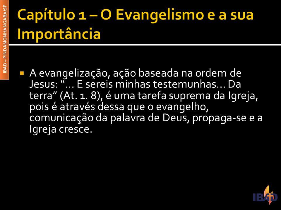 IBAD – PINDAMONHANGABA/SP  A evangelização, ação baseada na ordem de Jesus: ...