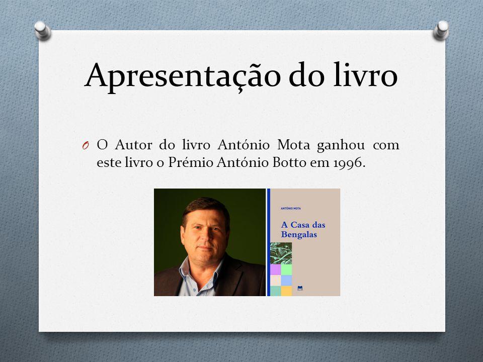 Apresentação do livro O O Autor do livro António Mota ganhou com este livro o Prémio António Botto em 1996.