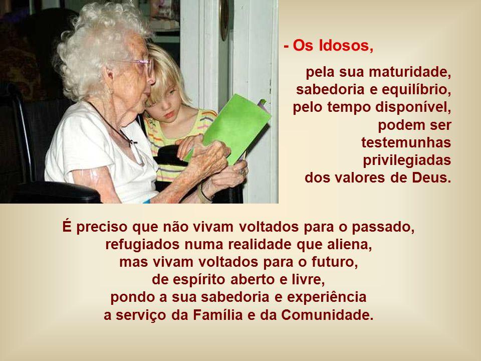 + Dois anciãos acolhem Jesus no Templo. Não são pessoas desiludidas, que vivem do Passado, estão voltadas para o futuro, atentas ao Deus libertador, q