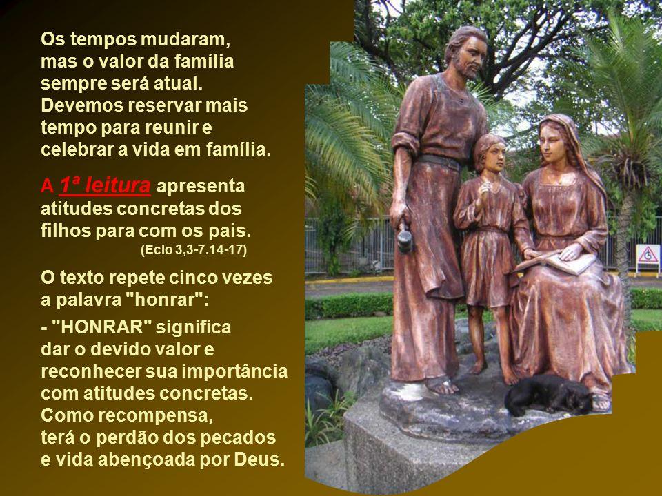A Liturgia nos apresenta hoje a SAGRADA FAMILIA de Nazaré, como exemplo e modelo de todas famílias. Jesus menino precisou de uma família. Precisou ser