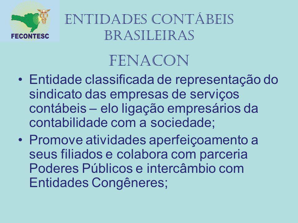 Entidades contábeis brasileiras fenacon Entidade classificada de representação do sindicato das empresas de serviços contábeis – elo ligação empresári