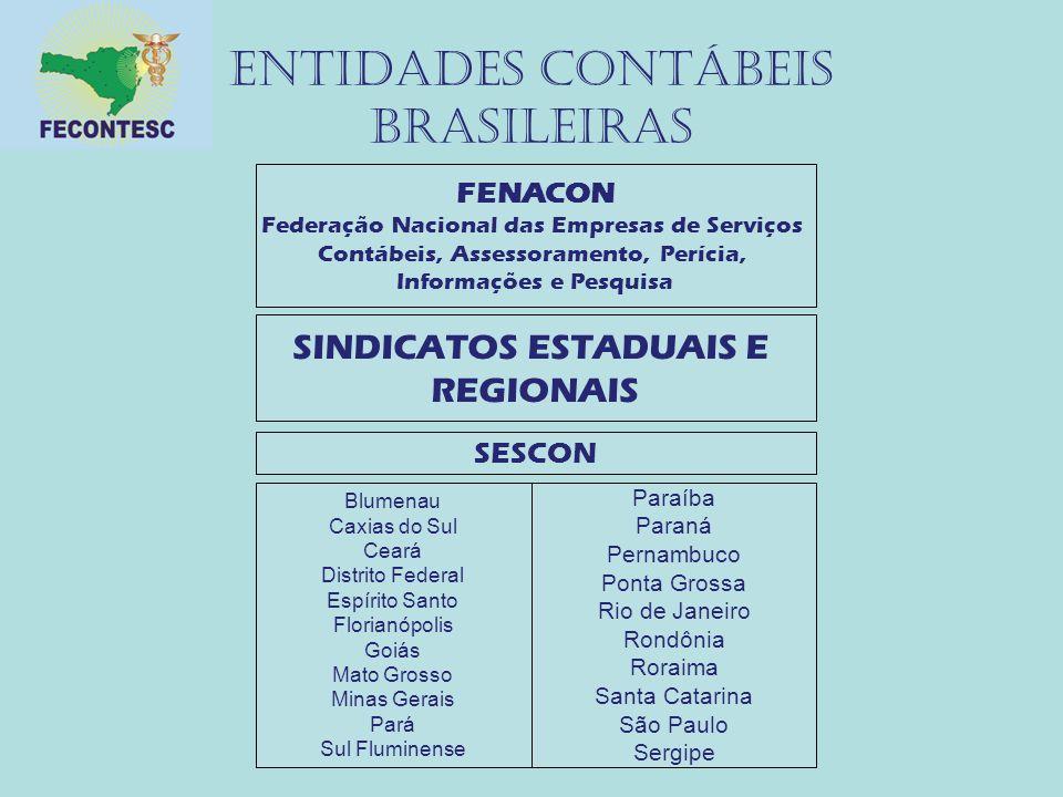 Entidades contábeis brasileiras FENACON Federação Nacional das Empresas de Serviços Contábeis, Assessoramento, Perícia, Informações e Pesquisa SINDICA