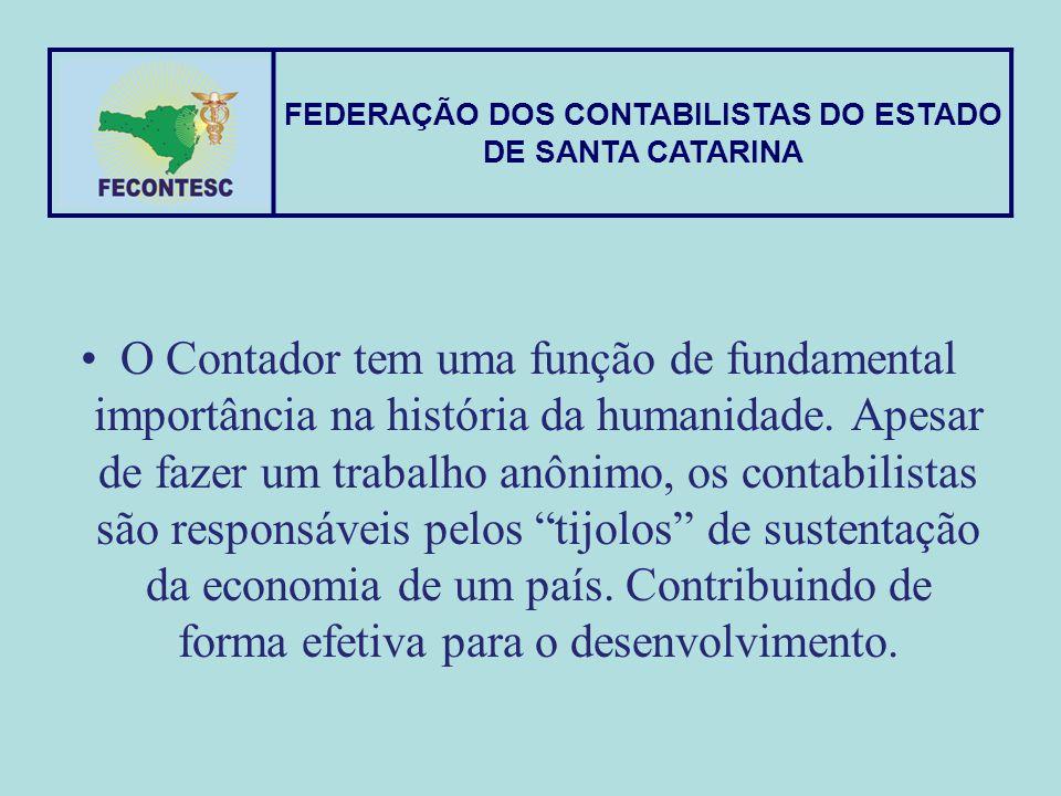 O Contador tem uma função de fundamental importância na história da humanidade. Apesar de fazer um trabalho anônimo, os contabilistas são responsáveis