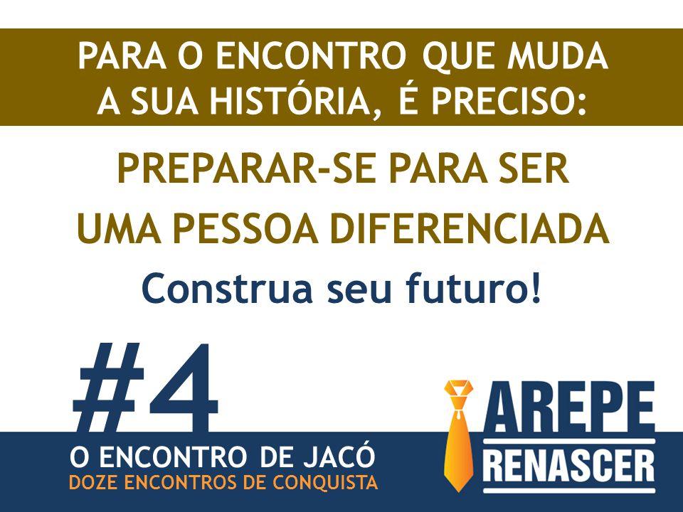 PARA O ENCONTRO QUE MUDA A SUA HISTÓRIA, É PRECISO: PREPARAR-SE PARA SER UMA PESSOA DIFERENCIADA Construa seu futuro.