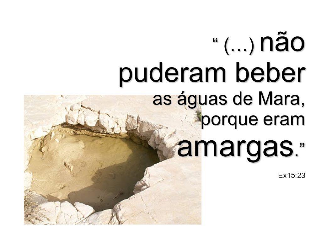 (…) não puderam beber as águas de Mara, porque eram amargas. Ex15:23