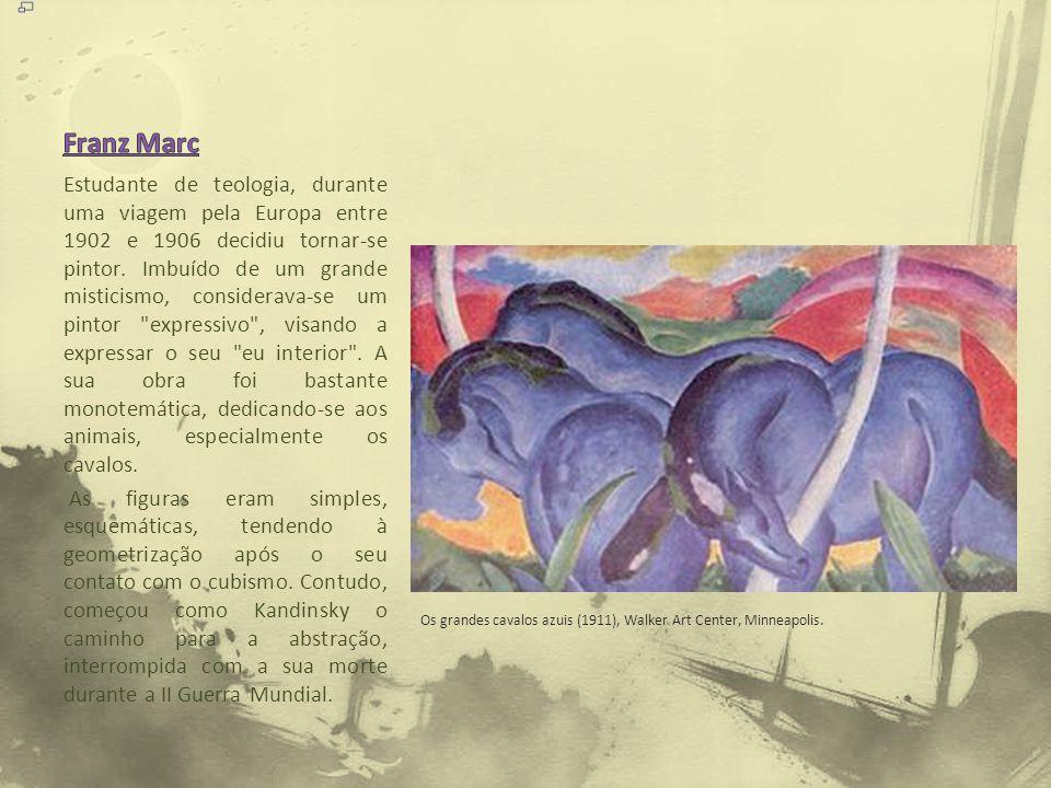 Estudante de teologia, durante uma viagem pela Europa entre 1902 e 1906 decidiu tornar-se pintor. Imbuído de um grande misticismo, considerava-se um p