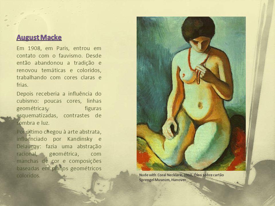 Em 1908, em Paris, entrou em contato com o fauvismo. Desde então abandonou a tradição e renovou temáticas e coloridos, trabalhando com cores claras e