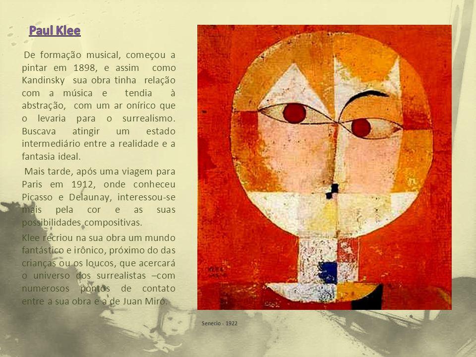 De formação musical, começou a pintar em 1898, e assim como Kandinsky sua obra tinha relação com a música e tendia à abstração, com um ar onírico que