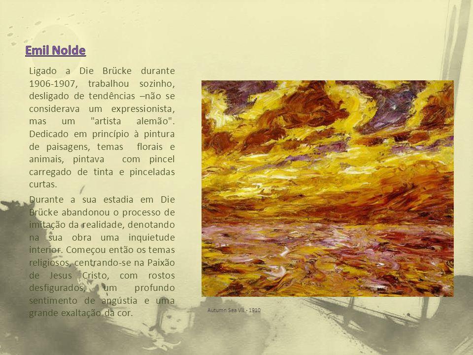 Ligado a Die Brücke durante 1906-1907, trabalhou sozinho, desligado de tendências –não se considerava um expressionista, mas um