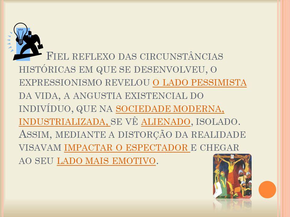 O EXPRESSIONISMO NÃO FOI UM MOVIMENTO HOMOGÊNEO, MAS DE UMA GRANDE DIVERSIDADE ESTILÍSTICA : HOUVE UM EXPRESSIONISMO MODERNISTA (M UNCH ), FAUVISTA (R OUAULT ), CUBISTA E FUTURISTA ( D IE B RÜCKE ), SURREALISTA (K LEE ), ABSTRATO (K ANDINSKY ), ETC.